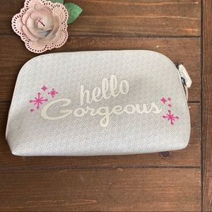 "Benefit ""Hello Gorgeous"" Cosmetic Bag NWOT"